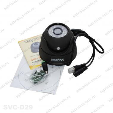 Антивандальная купольная AHD видеокамера SVC-D29 1 Мп