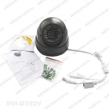 Антивандальная купольная AHD видеокамера SVC-D392V 2 Мп варифокал