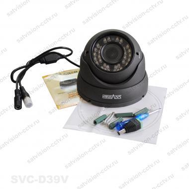 Антивандальная купольная AHD видеокамера SVC-D39V 1 Мп варифокал