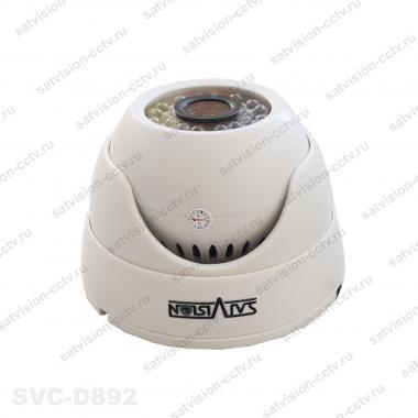Купольная AHD видеокамера SVC-D892 2 Мп